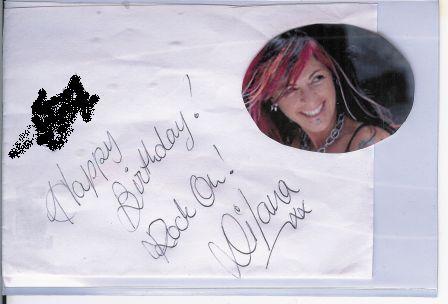 Dilana autograph