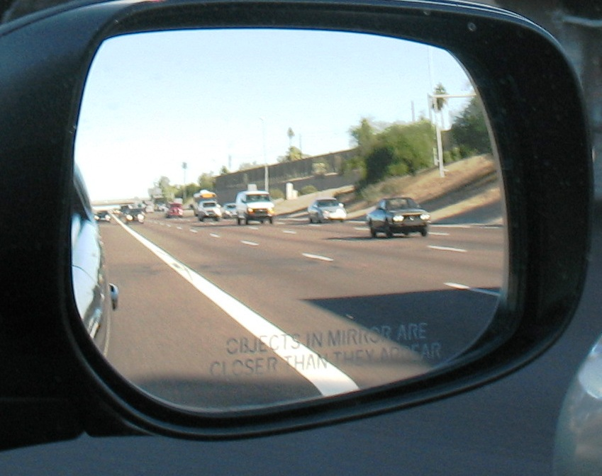 Objects in the mirror are shittier than they appear
