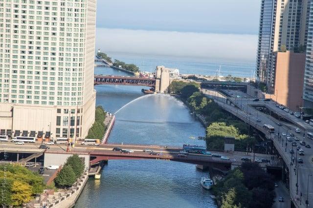 Lake Michigan fromTrump International Hotel and Tower Chicago