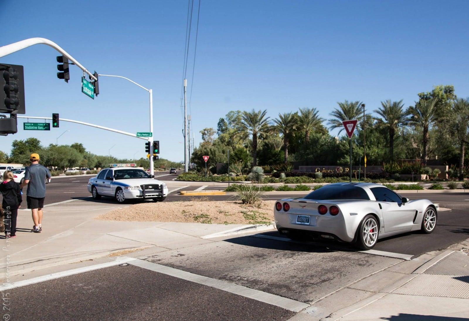 Corvette Z06 busted
