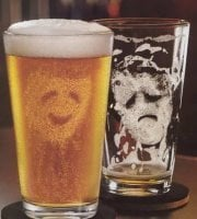 Beer face glass