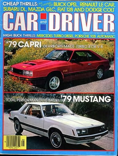Car and Driver August 1978