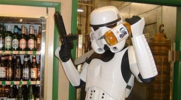 Star Wars stormtrooper  colt 45