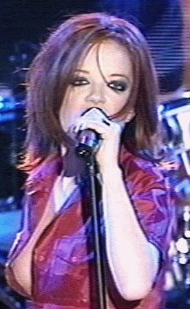 Shirley Manson of Garbage downblouse