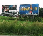 whiskey Bud Light DUI billboard