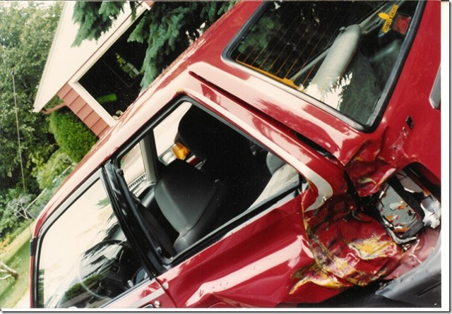 1988 Ford Festiva crash