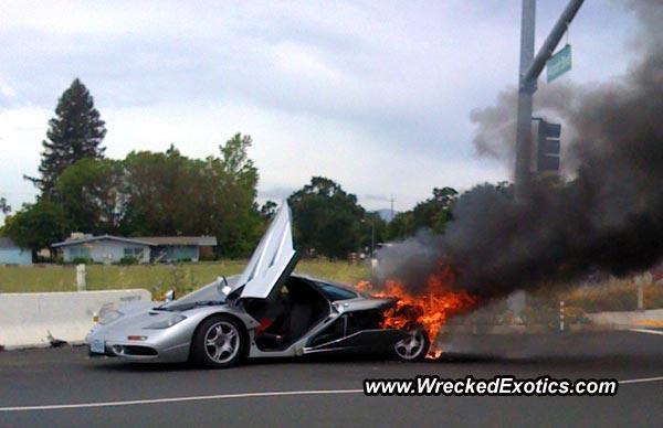 mclaren F1 fire