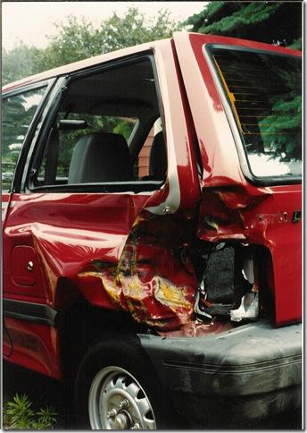 1988 Ford Festiva crash taillight